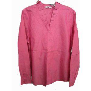 Orvis long sleeve button front blouse shirt SZ 16